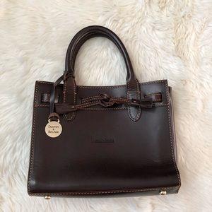 Dooney & Bourke Brown Leather Mini Tassel Bag